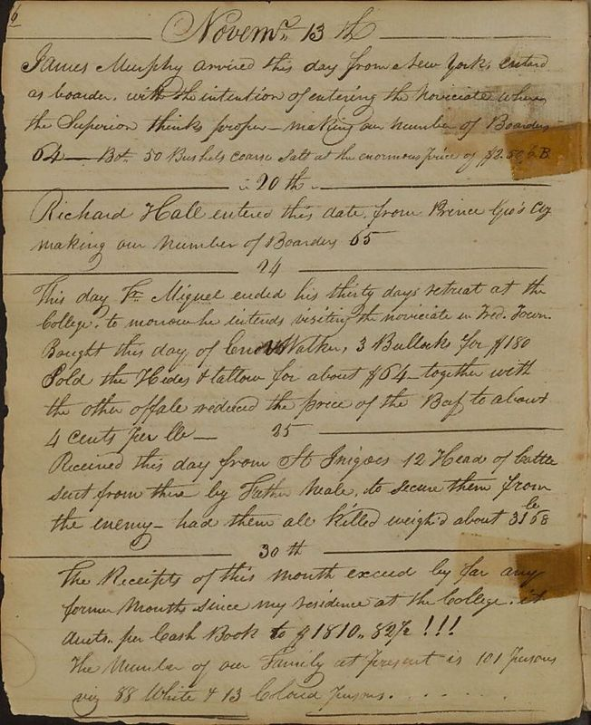 The number of our family, 1813