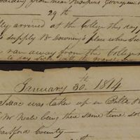McElroy Journal 1814-01-30 Sale of Isaac a runaway.jpg