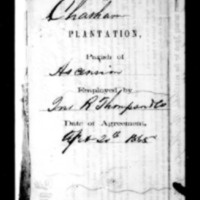 Agreement with Freedmen of Chatham Plantation in Ascension Parish, La., February 2, 1865