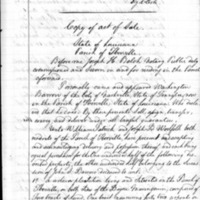 Bill of sale for land and slaves from Washington Barrow to William Patrick and Joseph B. Woolfolk, February 4, 1856