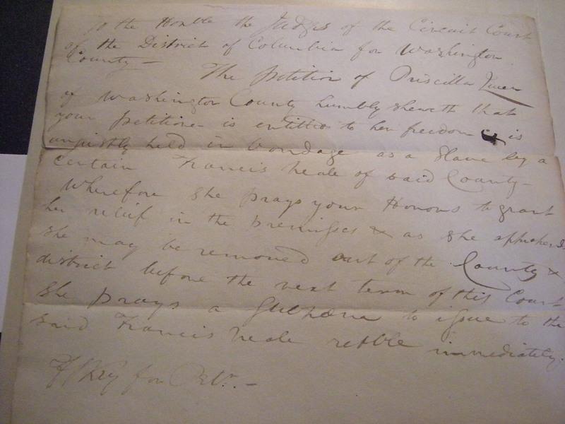 Priscilla Queen's petition for freedom, 1810