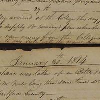 McElroy Journal 1814-01-30 Sale of Isaac a runaway.jpg