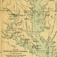 Map of Maryland Jesuit Stations, 17th-19th centuries