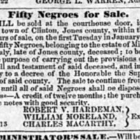 Georgia Telegraph 1854-0-103 Fifty Negroes For Sale - ad detail.pdf